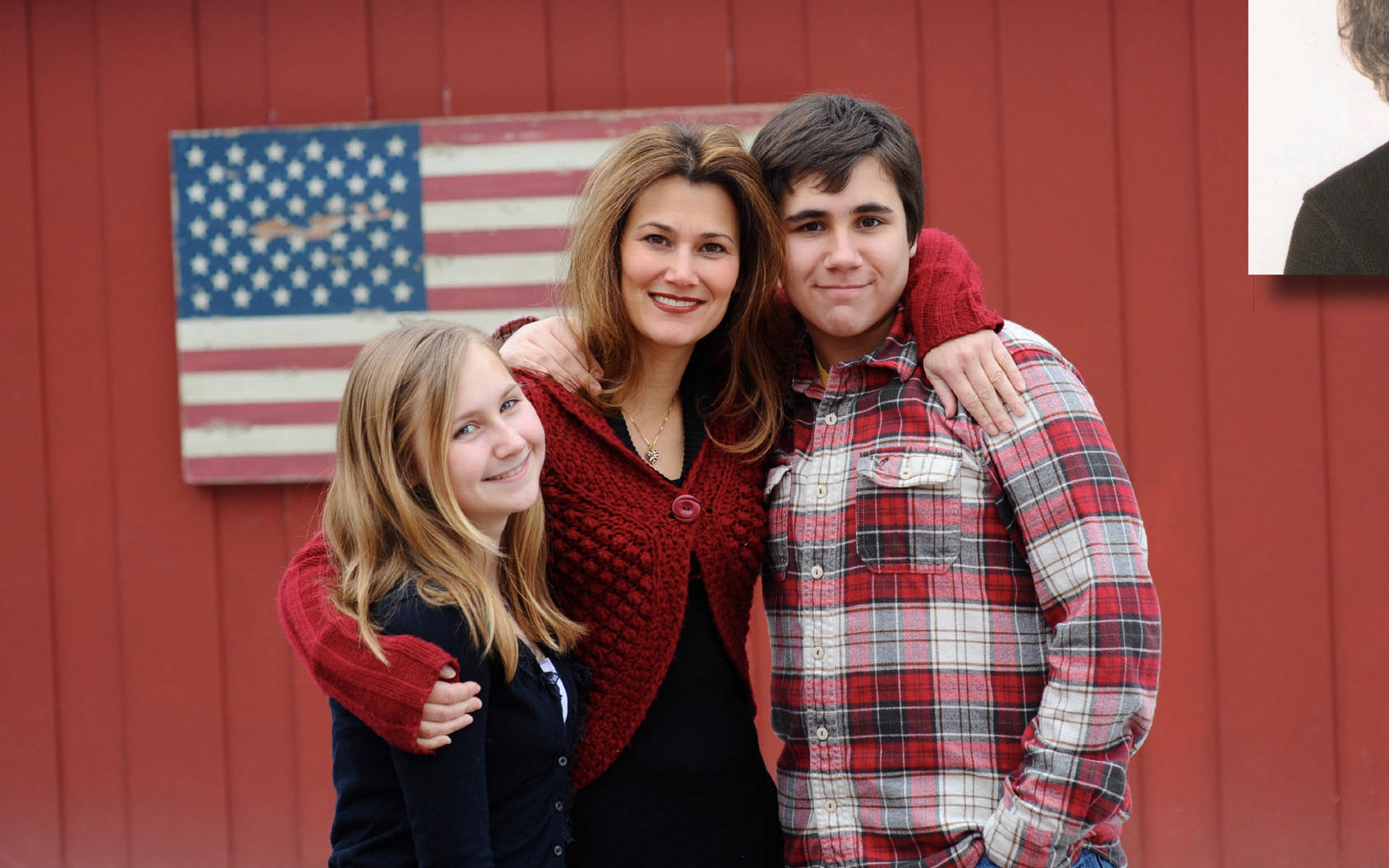 Erica Dodd, president of the Perfect Daughter, the catering arm of the Perfect Pita, with her children.