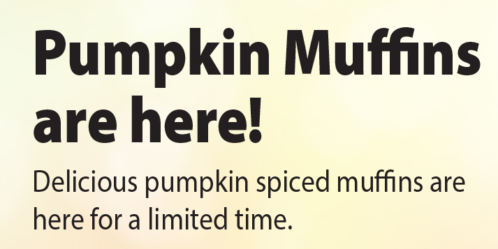Pumpkin Muffins are here!