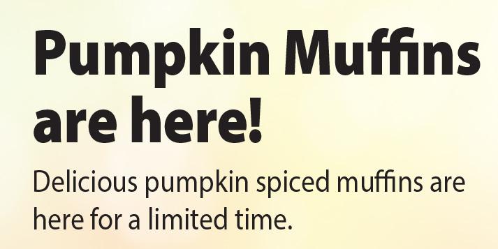 Pumpkin Muffins are here!