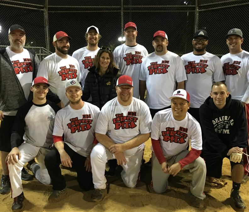 Introducing The Perfect Pita men's softball team.